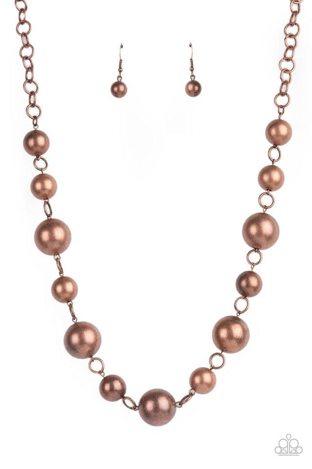 Commanding Composure - Copper - Paparazzi Necklace Image