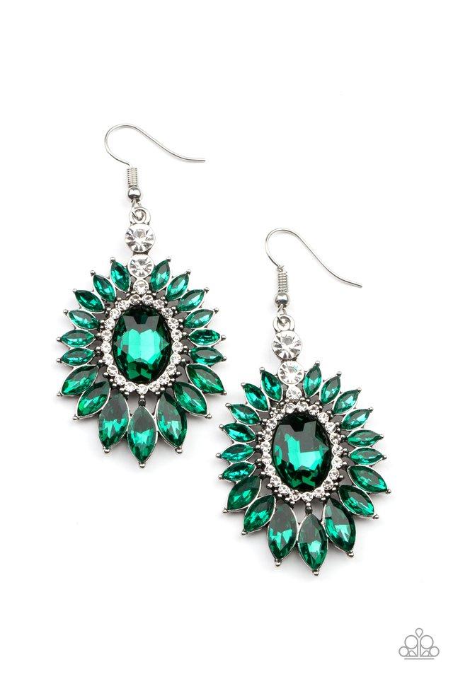 Big Time Twinkle - Green - Paparazzi Earring Image