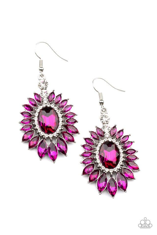 Big Time Twinkle - Pink - Paparazzi Earring Image
