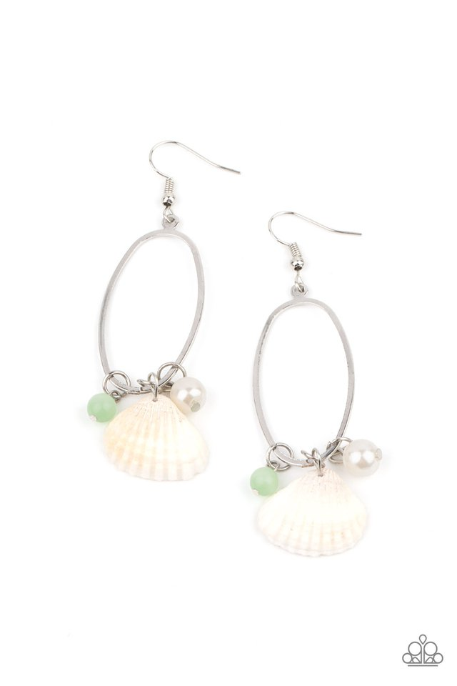 This Too SHELL Pass - Green - Paparazzi Earring Image