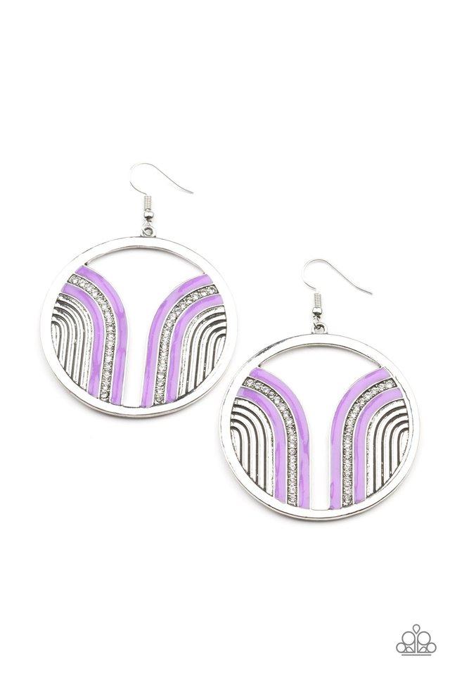 Delightfully Deco - Purple - Paparazzi Earring Image