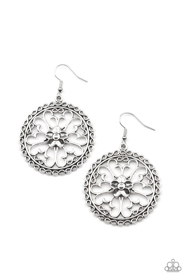 Floral Fortunes - Silver - Paparazzi Earring Image