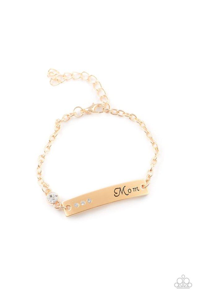 Mom Always Knows - Gold - Paparazzi Bracelet Image