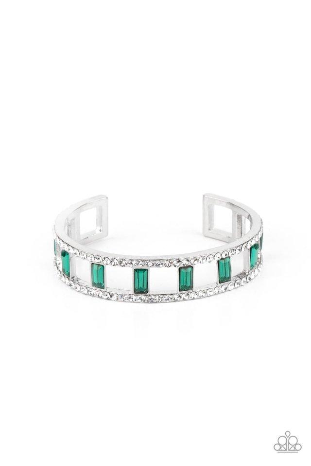 Industrial Icing - Green - Paparazzi Bracelet Image