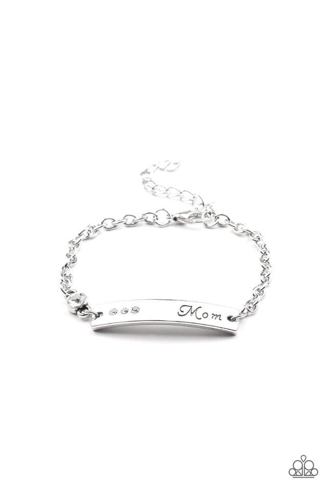 Mom Always Knows - White - Paparazzi Bracelet Image