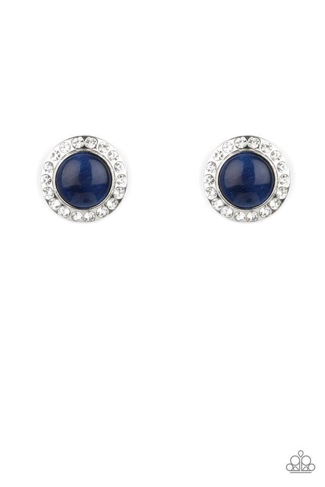 Glowing Dazzle - Blue - Paparazzi Earring Image