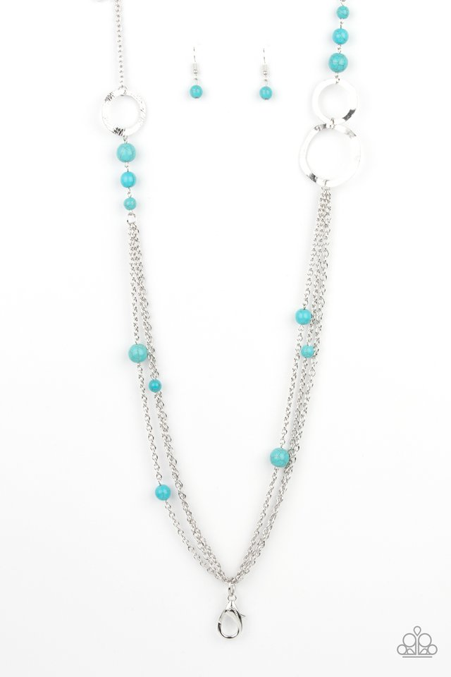 Local Charm - Blue - Paparazzi Necklace Image
