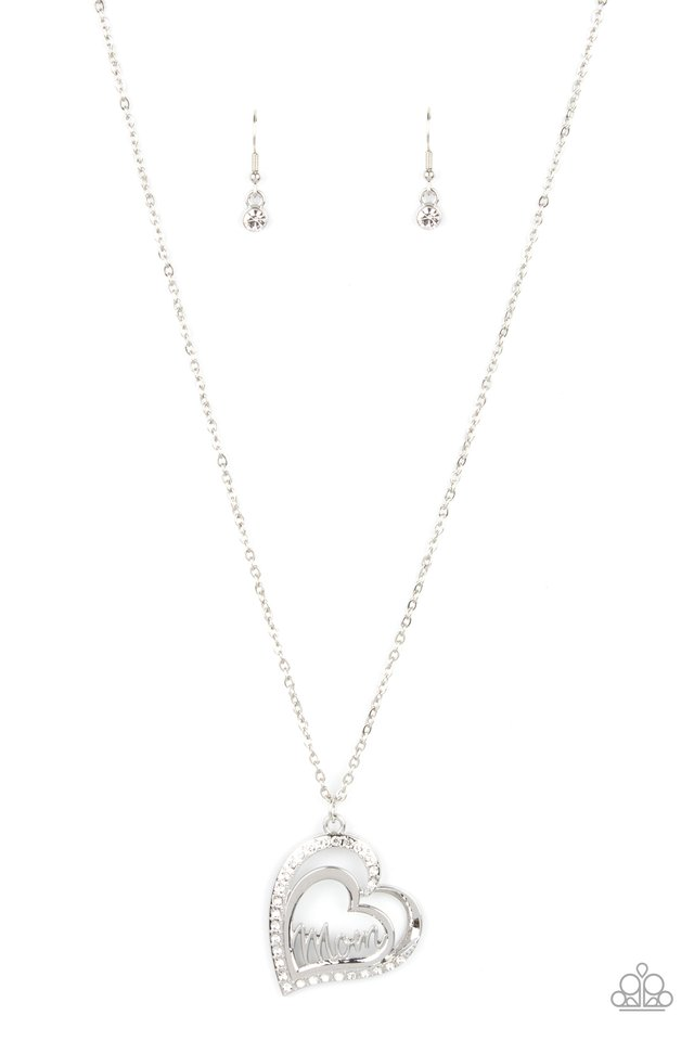 A Mothers Heart - White - Paparazzi Necklace Image