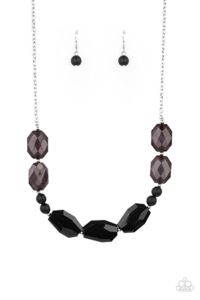 Melrose Melody - Black - Paparazzi Necklace Image
