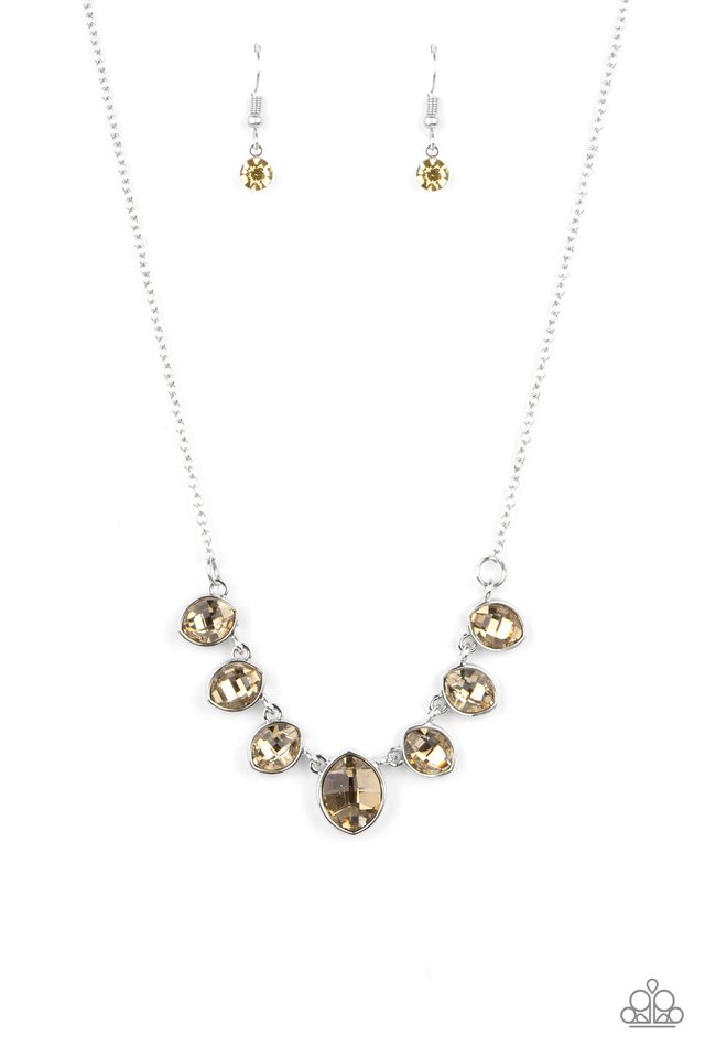 Material Girl Glamour - Brown - Paparazzi Necklace Image