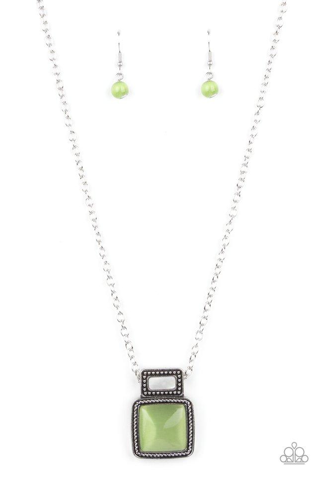 Ethereally Elemental - Green - Paparazzi Necklace Image