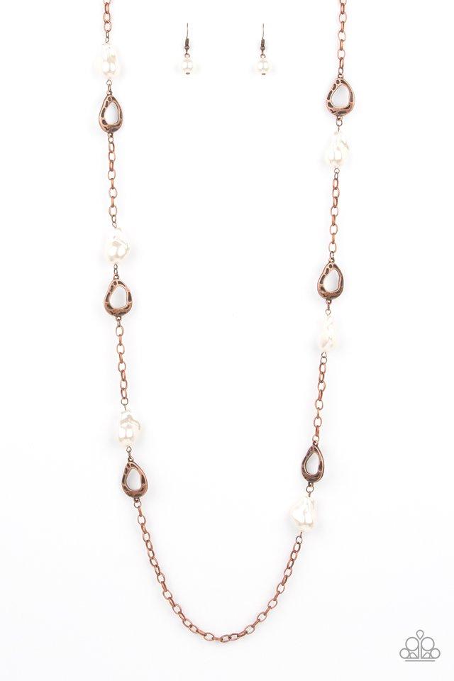 Rustic Refinery - Copper - Paparazzi Necklace Image