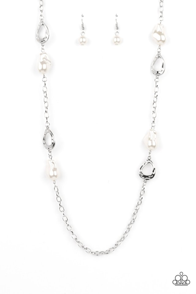 Rustic Refinery - White - Paparazzi Necklace Image