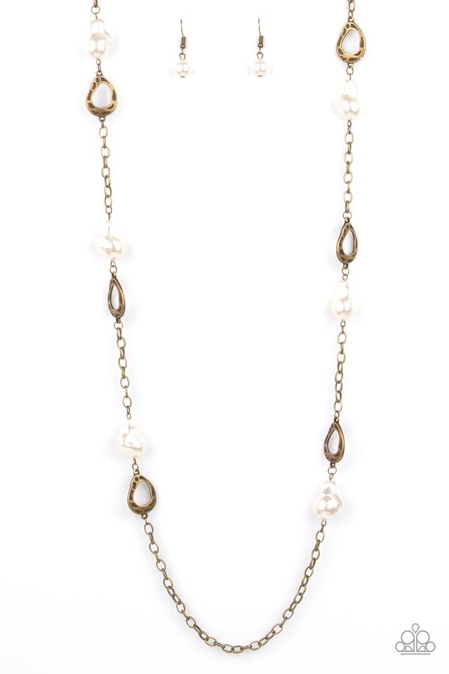 Rustic Refinery - Brass - Paparazzi Necklace Image