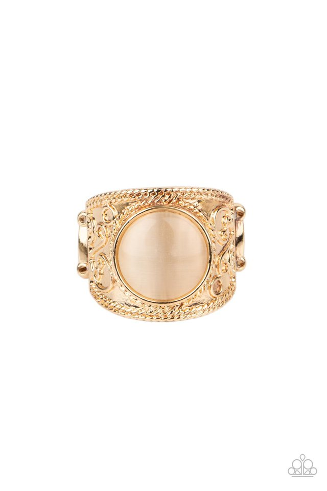 Blooming Enchantment - Gold - Paparazzi Ring Image