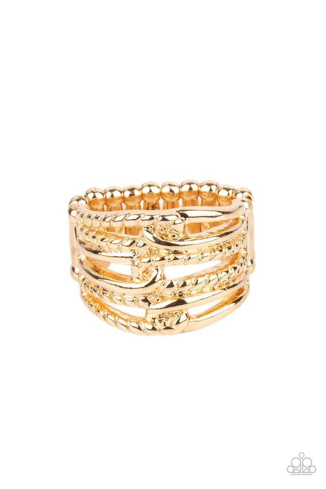 Crossing Signals - Gold - Paparazzi Ring Image