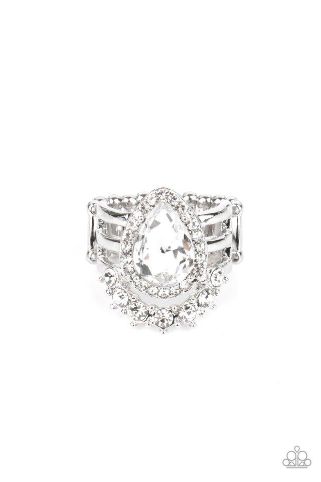 Elegantly Cosmopolitan - White - Paparazzi Ring Image