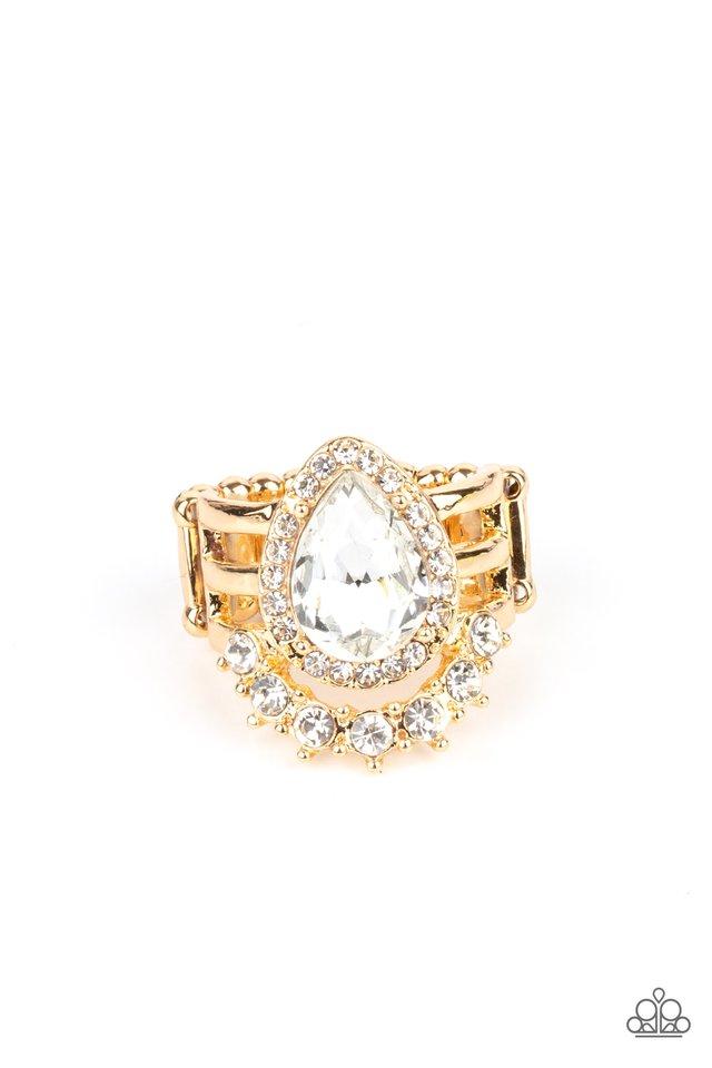 Elegantly Cosmopolitan - Gold - Paparazzi Ring Image