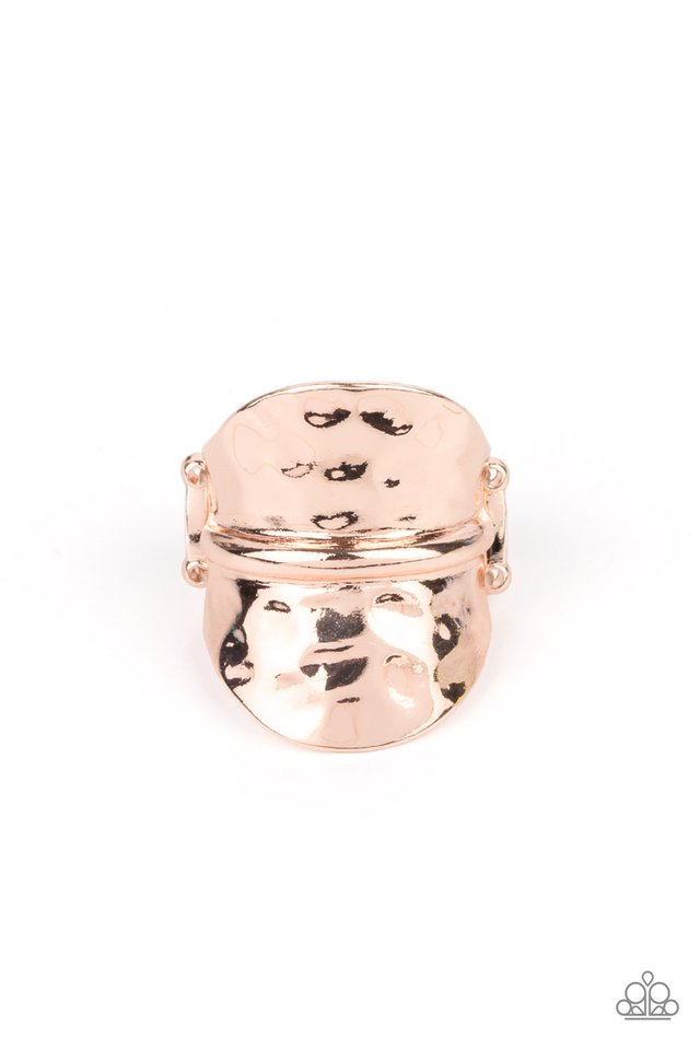 High Stakes Gleam - Rose Gold - Paparazzi Ring Image