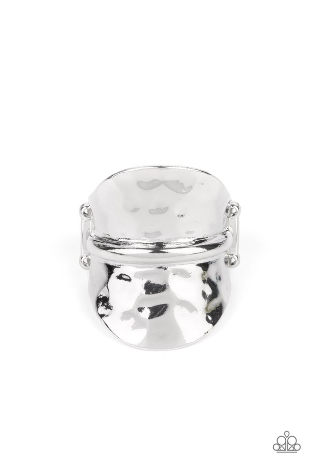 High Stakes Gleam - Silver - Paparazzi Ring Image