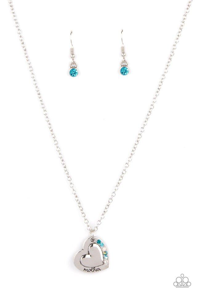Happily Heartwarming - Blue - Paparazzi Necklace Image