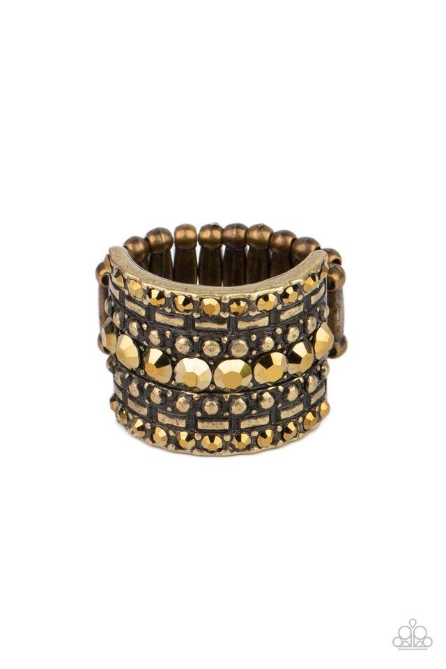 Target Locked - Brass - Paparazzi Ring Image