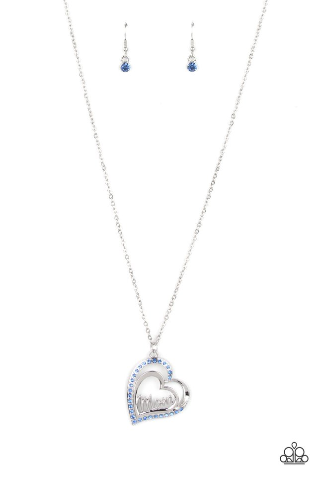 A Mothers Heart - Blue - Paparazzi Necklace Image