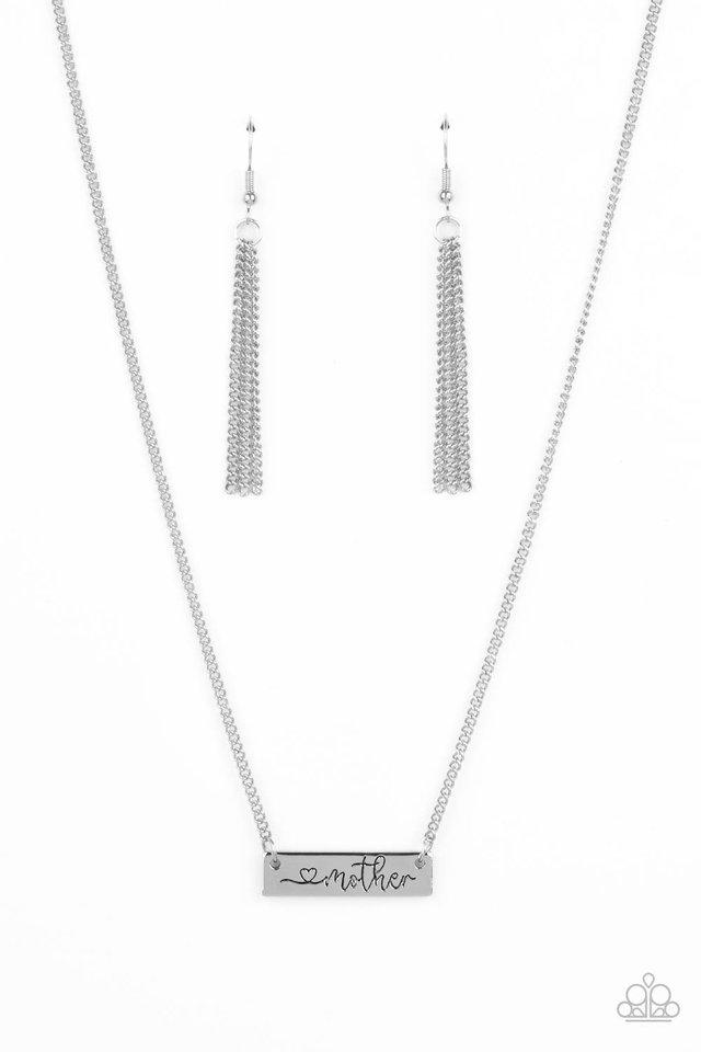 Joy Of Motherhood - Silver - Paparazzi Necklace Image