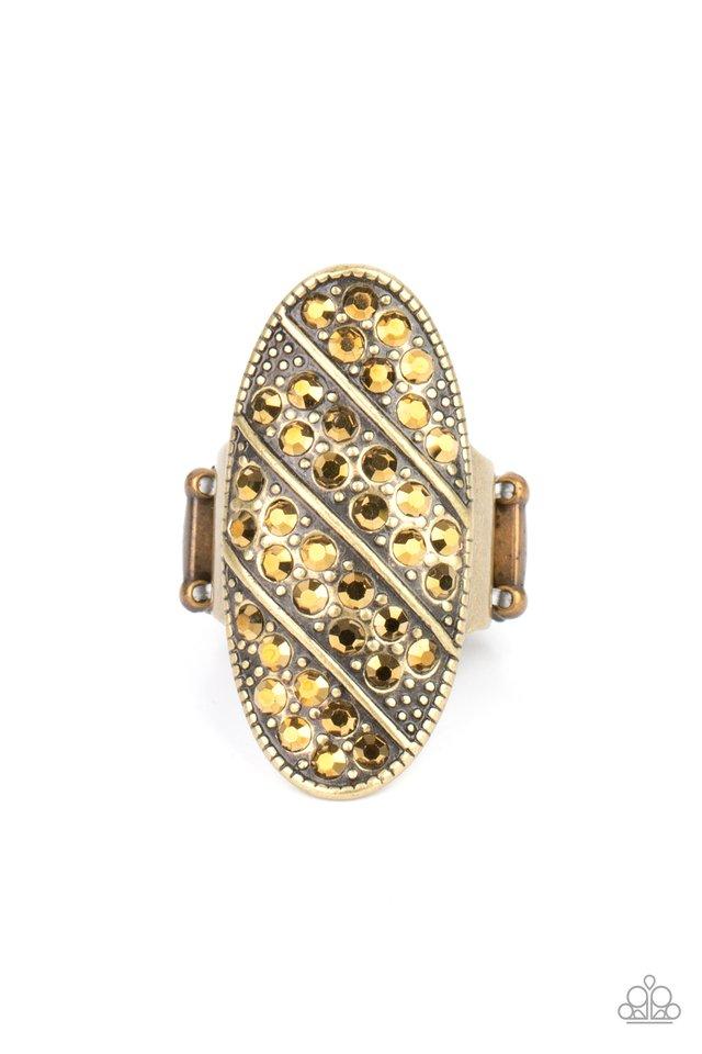 Galactic Glitz - Brass - Paparazzi Ring Image