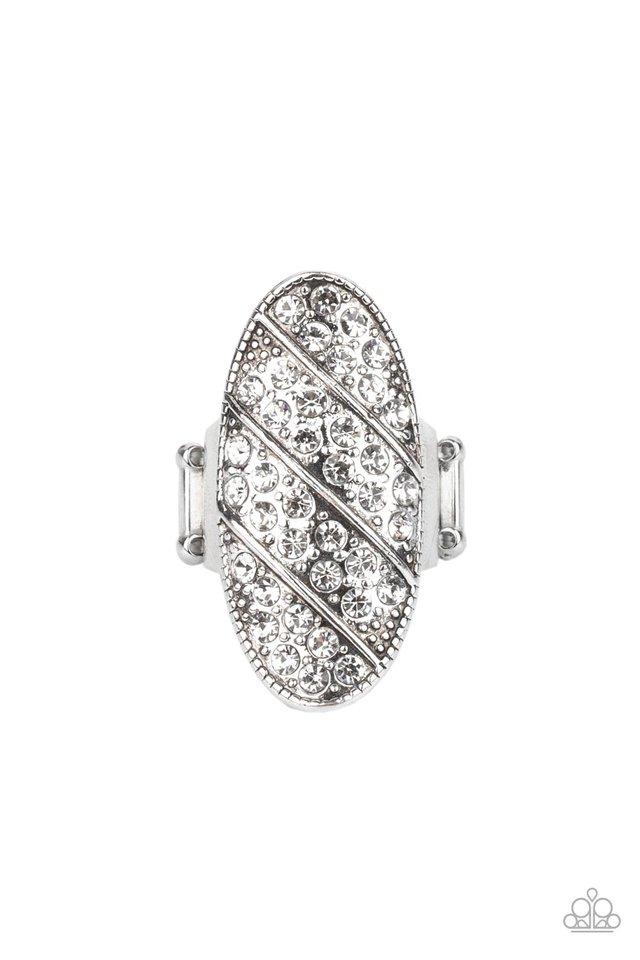Galactic Glitz - White - Paparazzi Ring Image