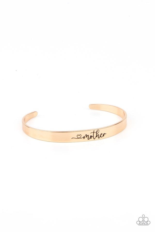 Sweetly Named - Gold - Paparazzi Bracelet Image