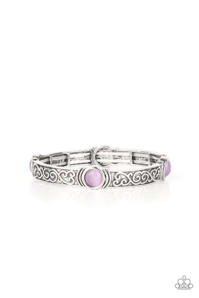 Ethereally Enchanting - Purple - Paparazzi Bracelet Image