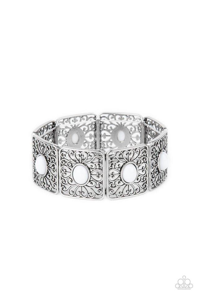 Cakewalk Dancing - White - Paparazzi Bracelet Image