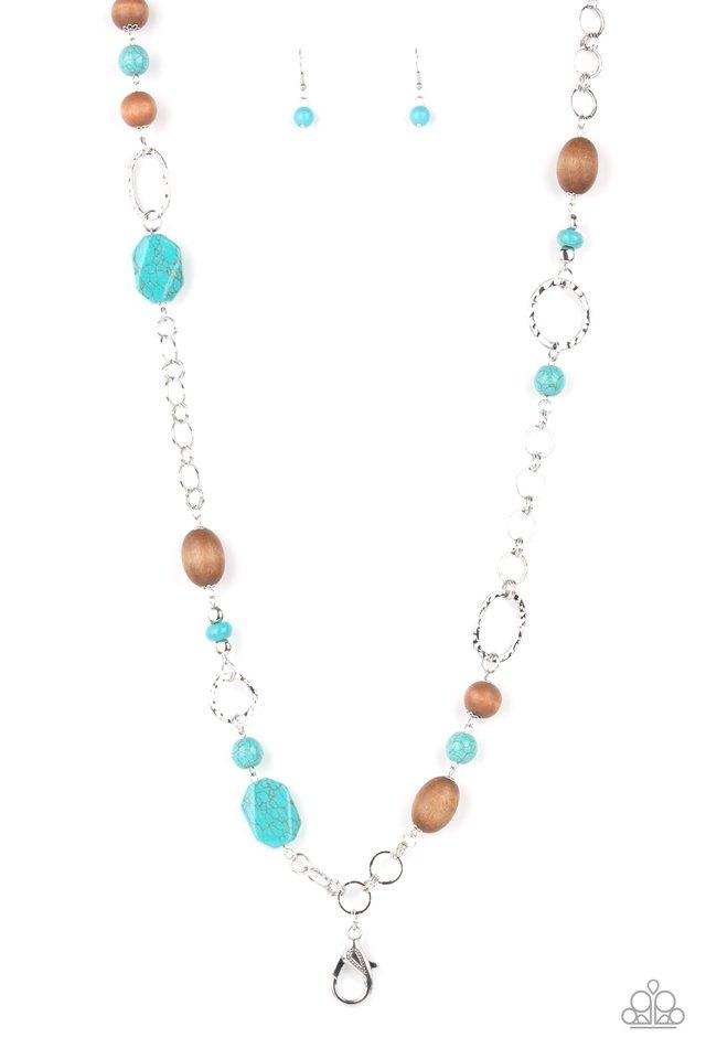 Prairie Reserve - Blue - Paparazzi Necklace Image