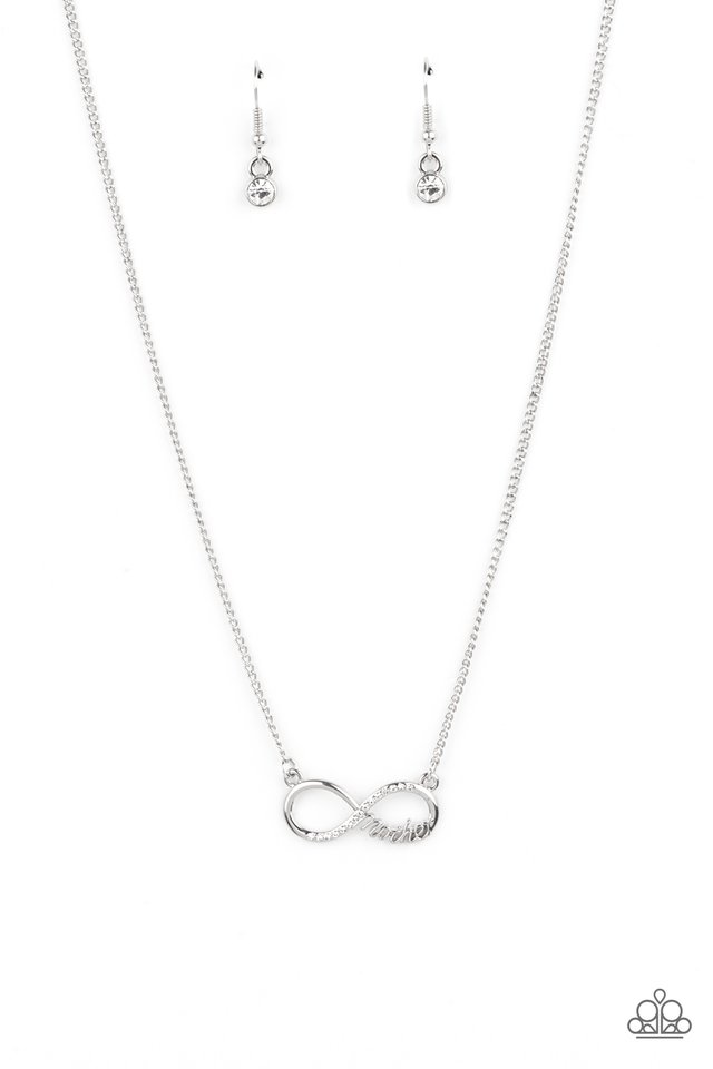 Forever Your Mom - White - Paparazzi Necklace Image