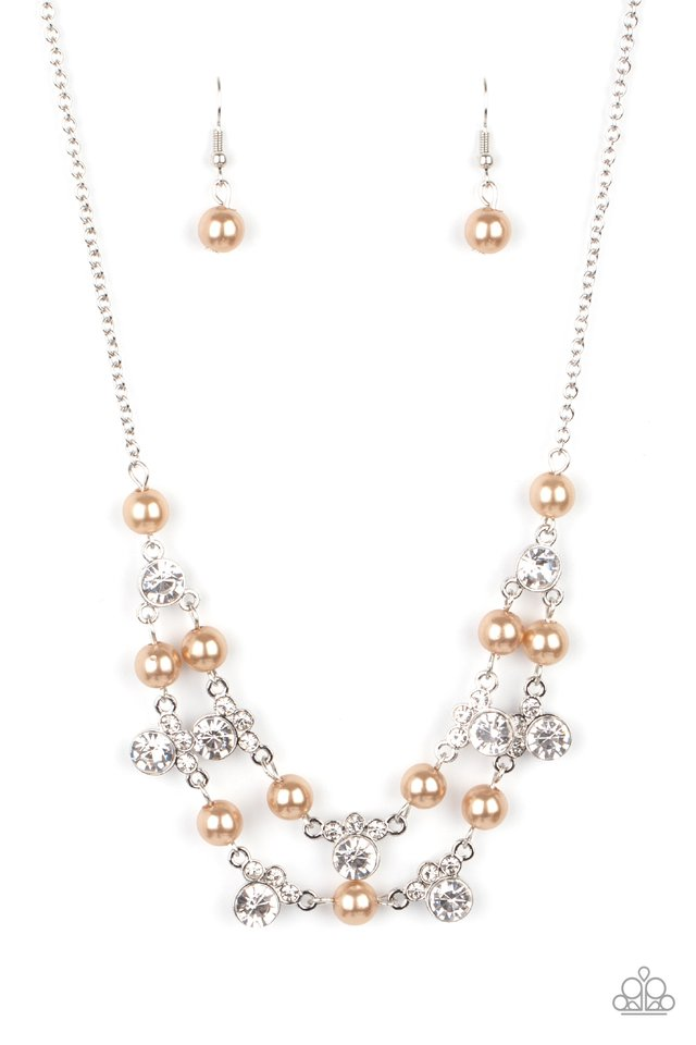 Royal Announcement - Brown - Paparazzi Necklace Image