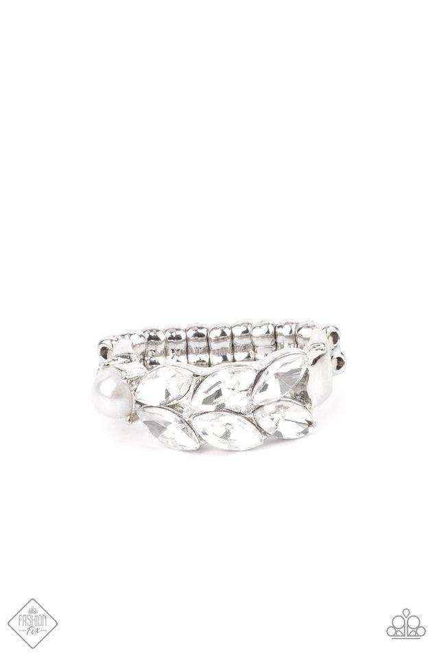 Majestically Musing - White - Paparazzi Ring Image