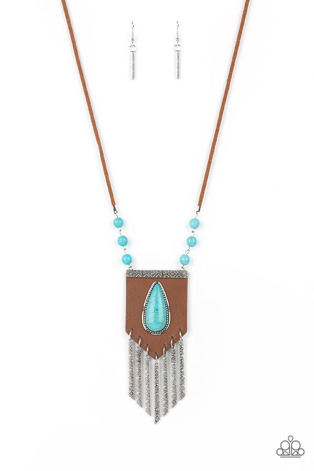 Enchantingly Tribal - Blue - Paparazzi Necklace Image
