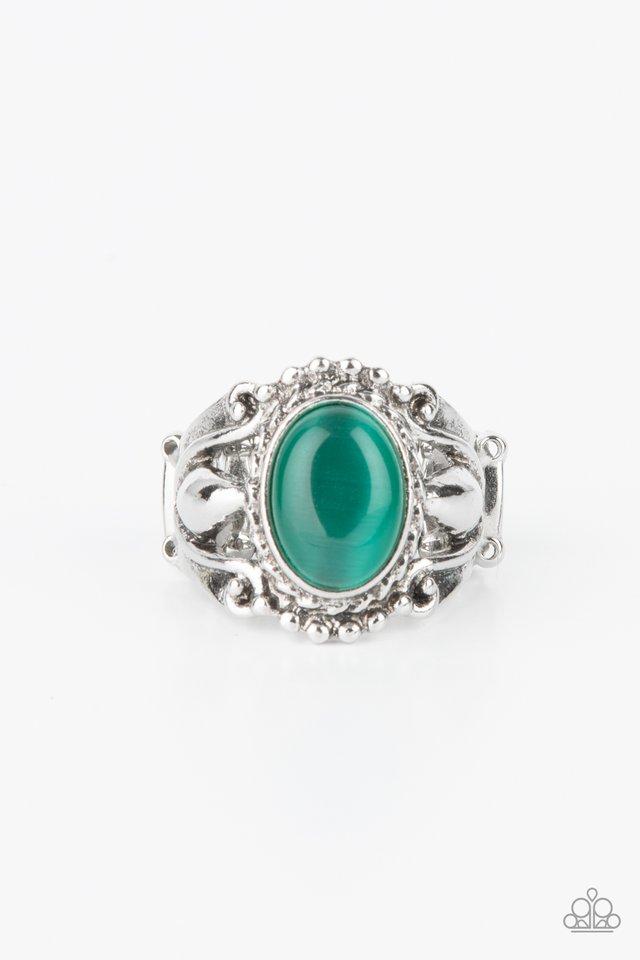 Jubilant Gem - Green - Paparazzi Ring Image