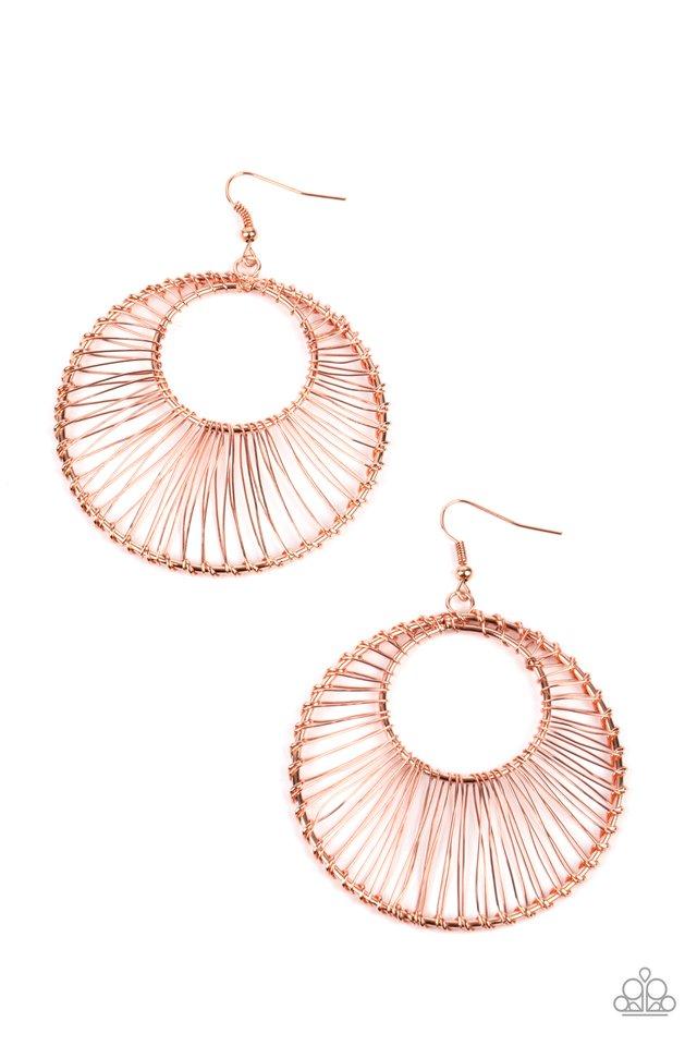 Artisan Applique - Copper - Paparazzi Earring Image