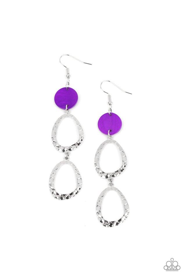 Surfside Shimmer - Purple - Paparazzi Earring Image