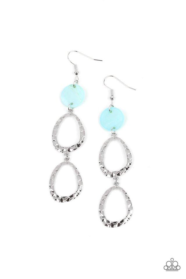 Surfside Shimmer - Blue - Paparazzi Earring Image