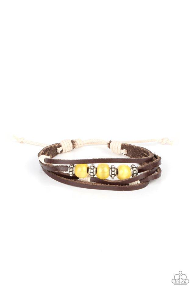 Homespun Radiance - Yellow - Paparazzi Bracelet Image