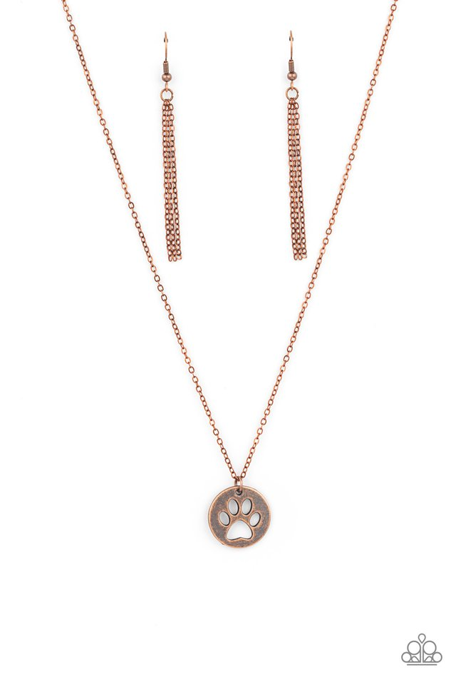 Think PAW-sitive - Copper - Paparazzi Necklace Image