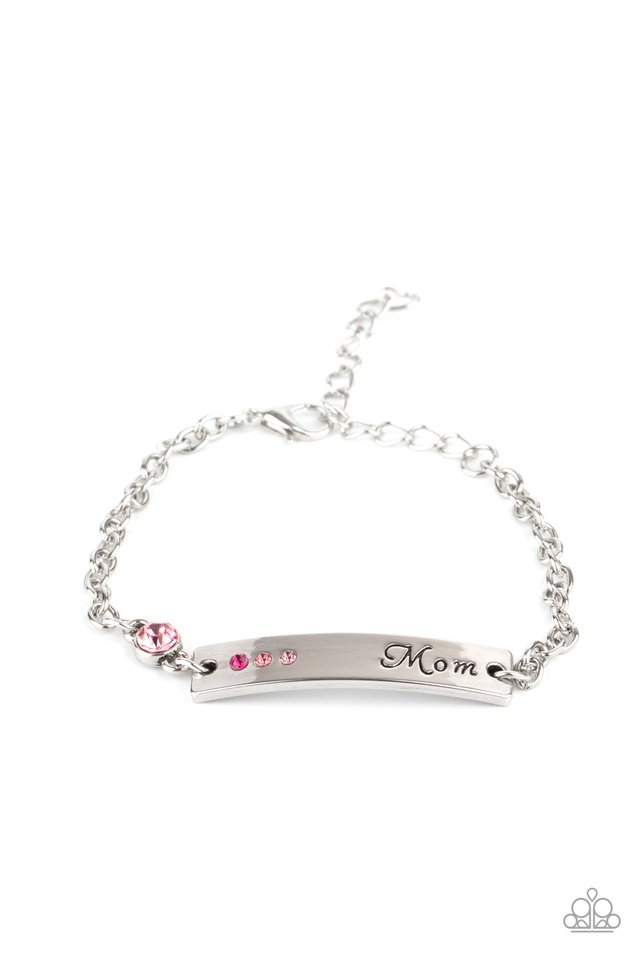 Mom Always Knows - Pink - Paparazzi Bracelet Image
