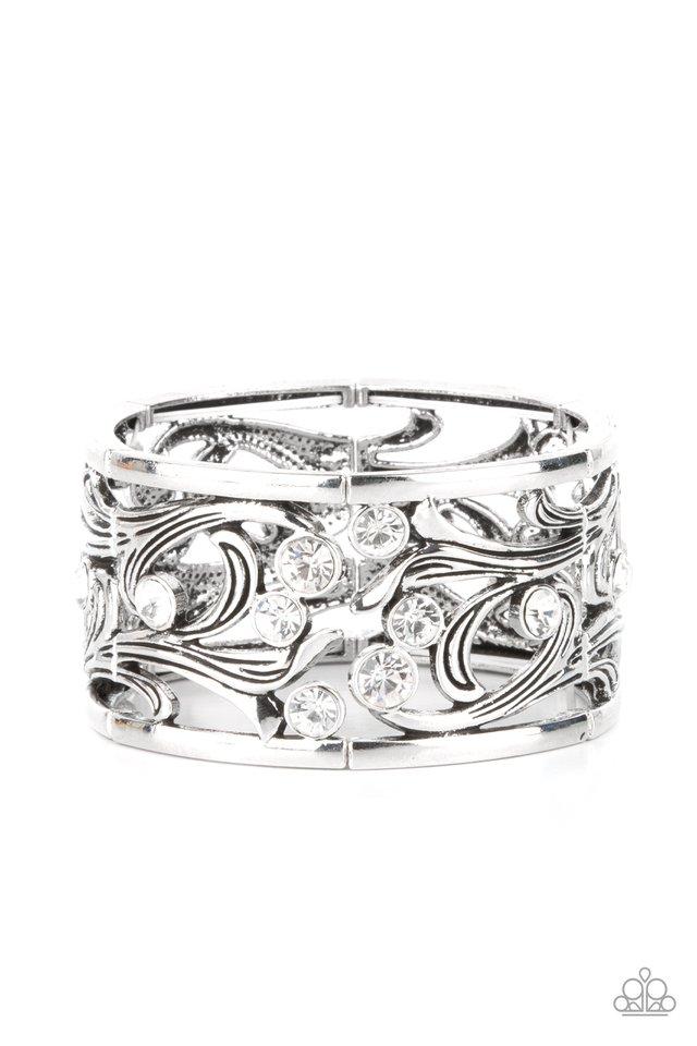 Garden Masquerade - White - Paparazzi Bracelet Image