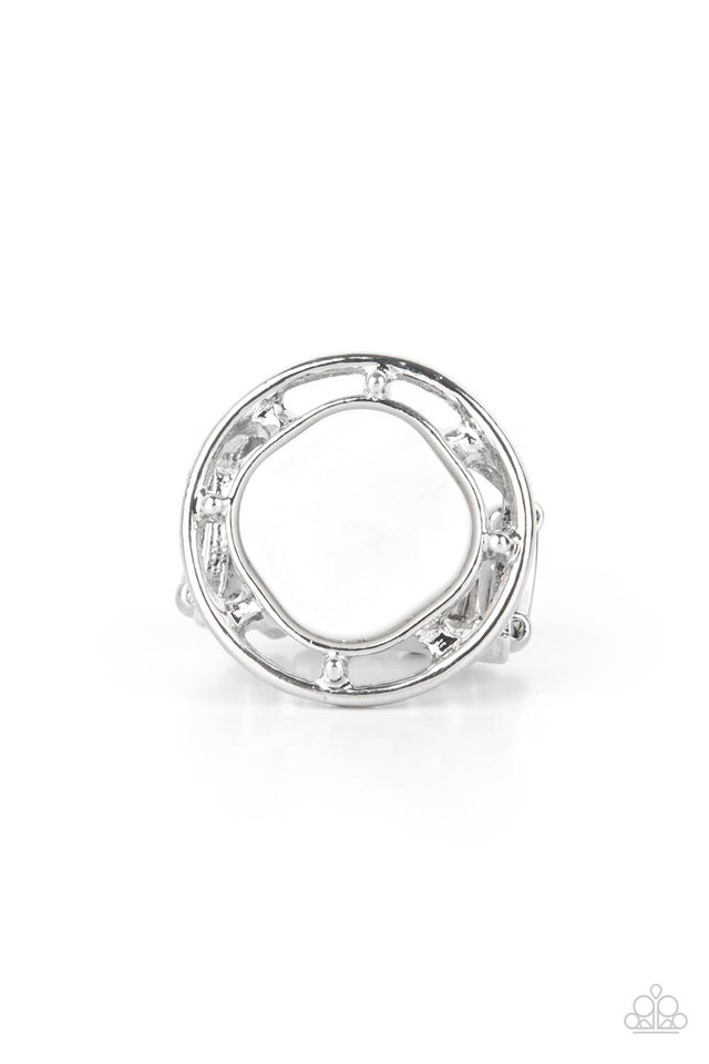 Encompassing Pearlescence - White - Paparazzi Ring Image