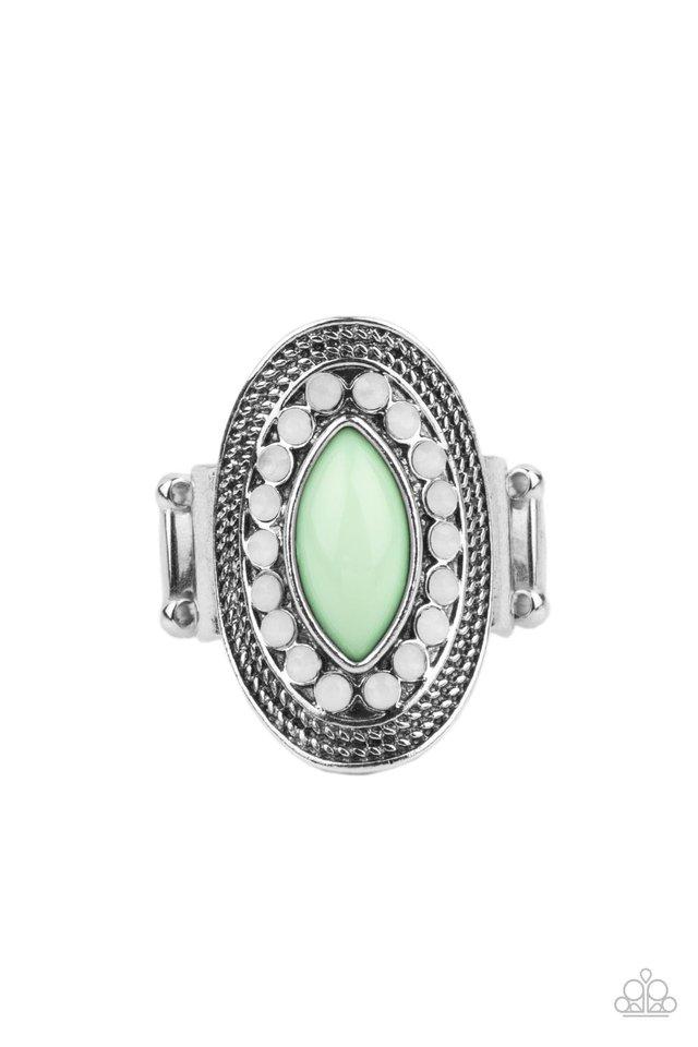 Tea Light Twinkle - Green - Paparazzi Ring Image