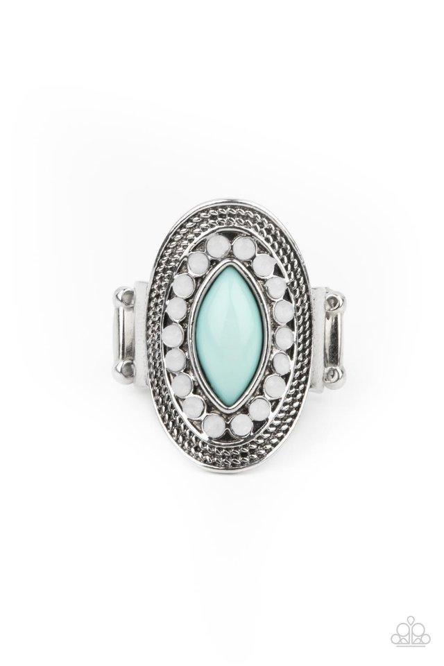 Tea Light Twinkle - Blue - Paparazzi Ring Image