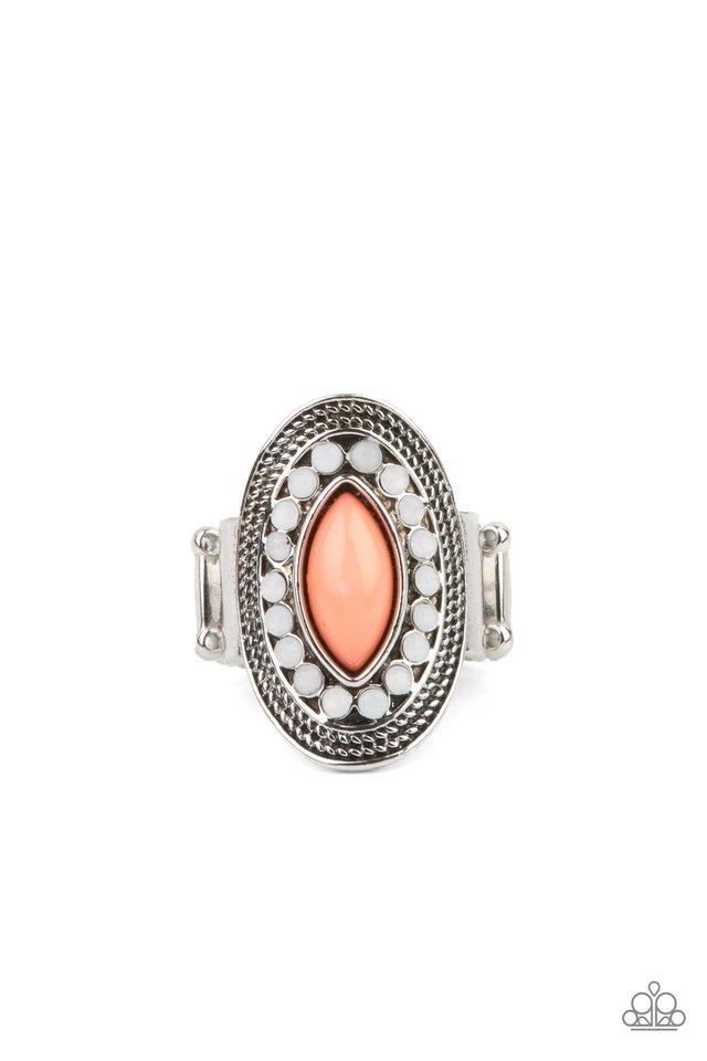 Tea Light Twinkle - Orange - Paparazzi Ring Image